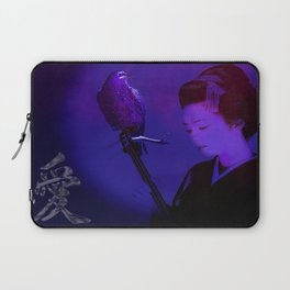 The geisha of Kyôto playing the shamisen for the night crow Laptop Sleeve