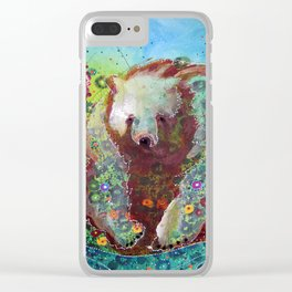 Fireweed Bear Clear iPhone Case