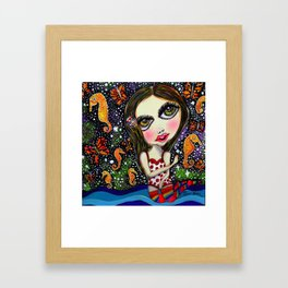 seahorse big eyes girl Framed Art Print