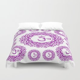 "PURPLE CROWN  PSYCHIC CHAKRAS  WHEEL ""KNOW"" Duvet Cover"