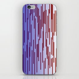 design lines blue with pink iPhone Skin