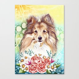 Sweet Sheltie Canvas Print