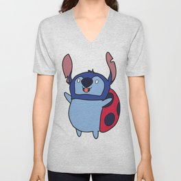 Catbug / Stitch Unisex V-Neck