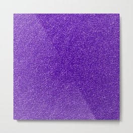 Shiny Glitter, Sparkling Glitter Glow - Purple Metal Print