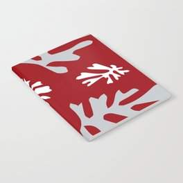 Matisse Silver & Red Holiday Leaves Notebook