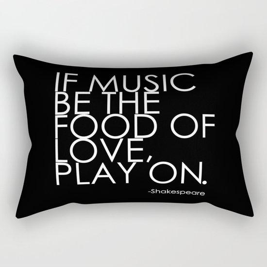 The Food Of Love Rectangular Pillow