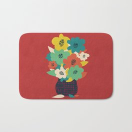 Paper Flowers Bath Mat