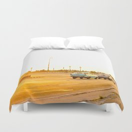 Cuban sunset Duvet Cover