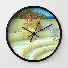 "Sir Lawrence Alma-Tadema ""Under the Roof of Blue Ionian Weather"" Wall Clock"