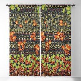 retro meadow Blackout Curtain