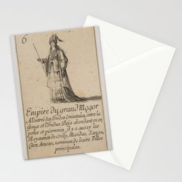 Game of Geography - Empire of the Great Mogul (Stefano della Bella, 1644) Stationery Cards