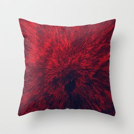 Bold Burst in Brilliant Red Throw Pillow