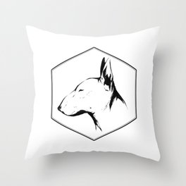 Canine Republic : Bull Terrier Throw Pillow