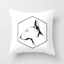 Canine Republic : Bull Terrier Throw Pillow