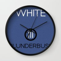 jack white Wall Clocks featuring Jack White by Tanner Wheat