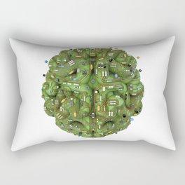 Circuit brain Rectangular Pillow