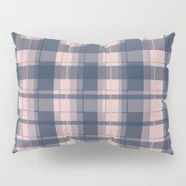 Dusty rose and Blue Modern Tartan Pillow Sham