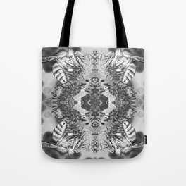 bees black and white Tote Bag