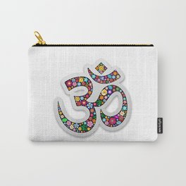 Namaste Floral Yoga Symbol Carry-All Pouch