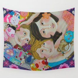 """""""Stuffies' Party"""" Wall Tapestry"""