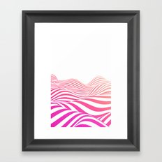 Pink wave Framed Art Print