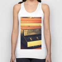 record Tank Tops featuring record player by gzm_guvenc