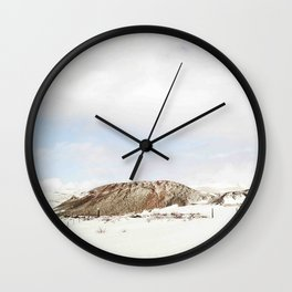 Lonely mountain Wall Clock