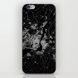 montreal map iPhone Skin