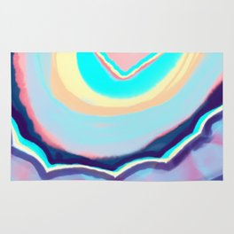 Colorful agate Rug