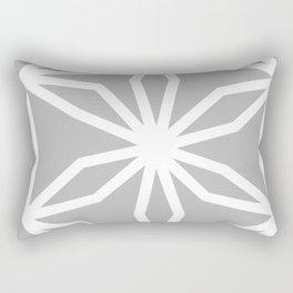 CUBIC FLOWER PATTERN - gray Rectangular Pillow