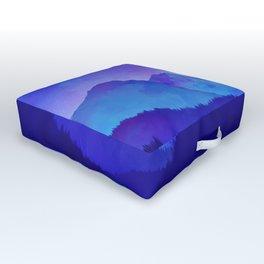 Cerulean Blue Mountains Outdoor Floor Cushion