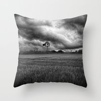 oklahoma Throw Pillows featuring Oklahoma Sky by Austin's Designs