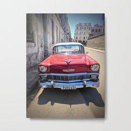 Vintage Red Car Metal Print