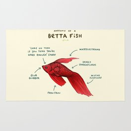 Anatomy of a Betta Fish Rug