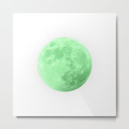 LIME MOON Metal Print