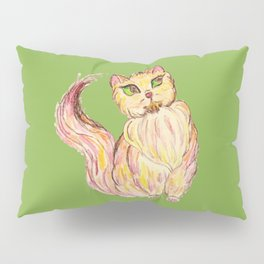 Red Persian Cat Pillow Sham