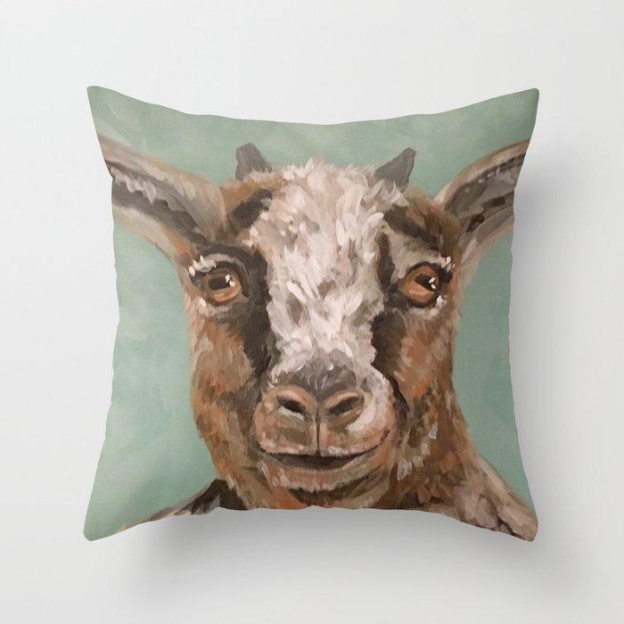 Nursery Art Decor Barnyard Baby Goat Throw Pillow