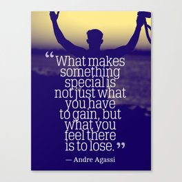 Ispirational Sports Quotes — Andre Agassi 2 Canvas Print