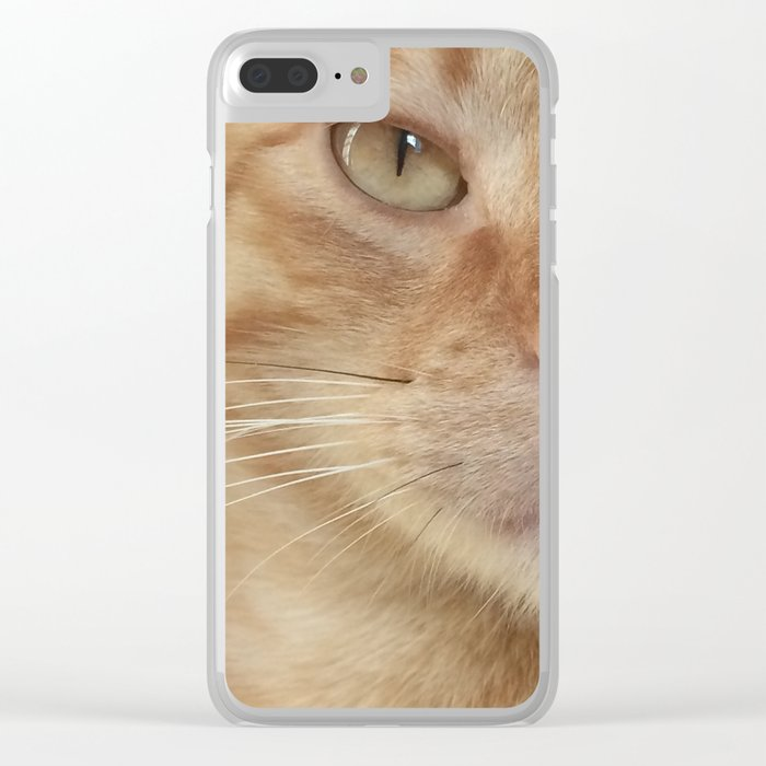 Cat Watching You Clear iPhone Case