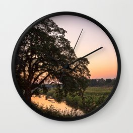 Kruger Park Twilight Wall Clock