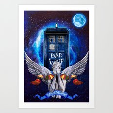 The Angel with Tardis Doctor who iPhone 4 4s 5 5c 6, pillow case, mugs and tshirt Art Print