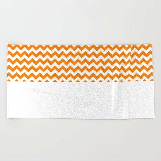 Chevron (Orange/White) Beach Towel