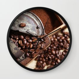 Coffee grinder with coffee beans picture 2 Wall Clock