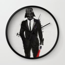 Black suit Vader Wall Clock