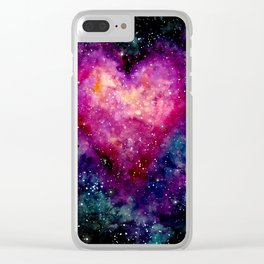 Valentine Galaxy Heart 04 Clear iPhone Case
