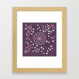 Floral Geometric 1 Framed Art Print