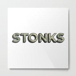 Stonks Metal Print