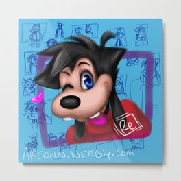 Blue Max: Silly Metal Print