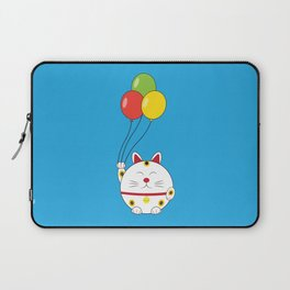 Fat Cat with Balloons Laptop Sleeve