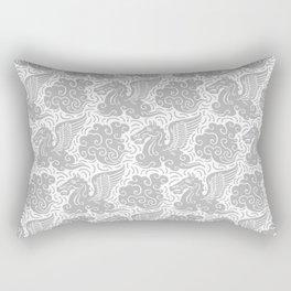 Pegasus Pattern Grey Rectangular Pillow